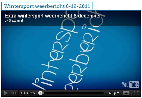 Wintersport weervideo 6december