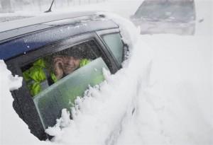Roemenie getroffen door sneeuwdump