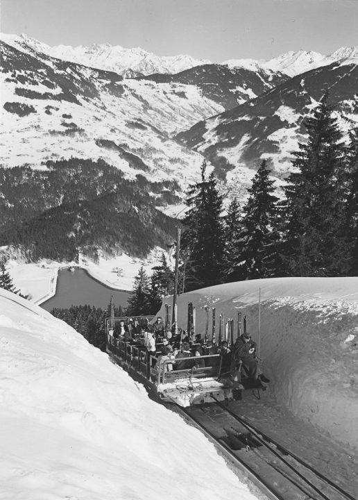 skigebied Golm in de sixties