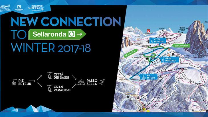 PIz Seteur de nieuwe gondellift in Val Gardena