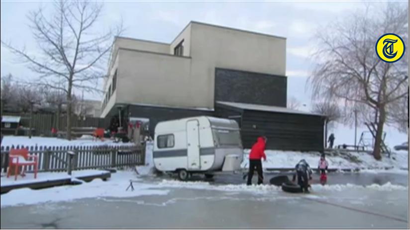 Caravan op IJs Krommenie